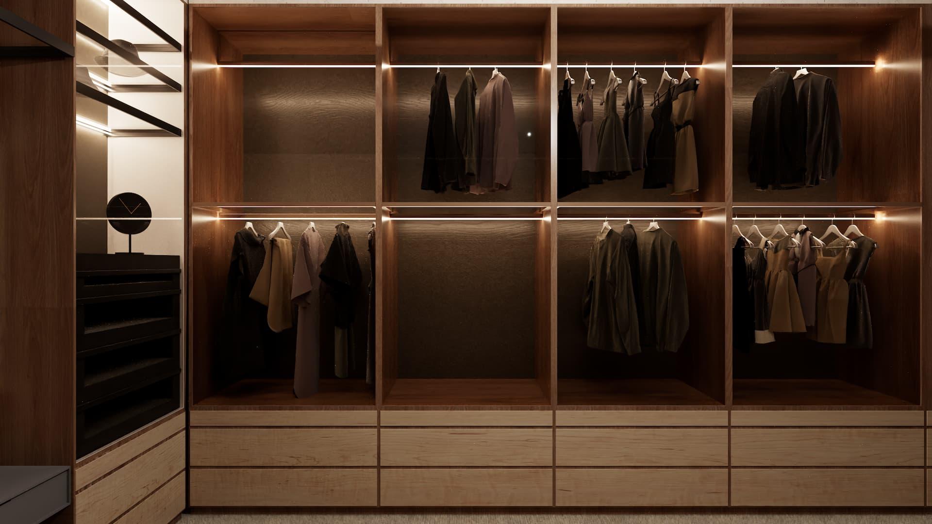 Wizualizacja garderoby na wymiar